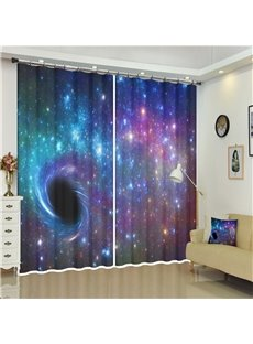 The Black Holes and Galaxy Abstract Space Art Decor 3D Curtains