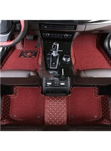 With Heart-shaped Pattern Double-deck Waterproof Custom Fit Car Floor Mat