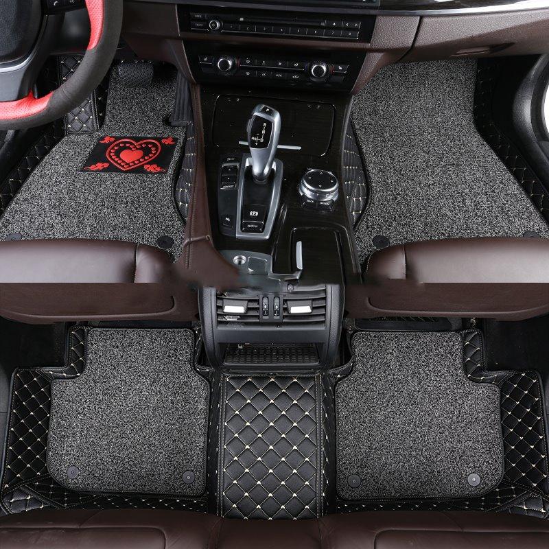 With Heart-shaped Pattern Double-deck Waterproof Custom Fit Car Floor Mat