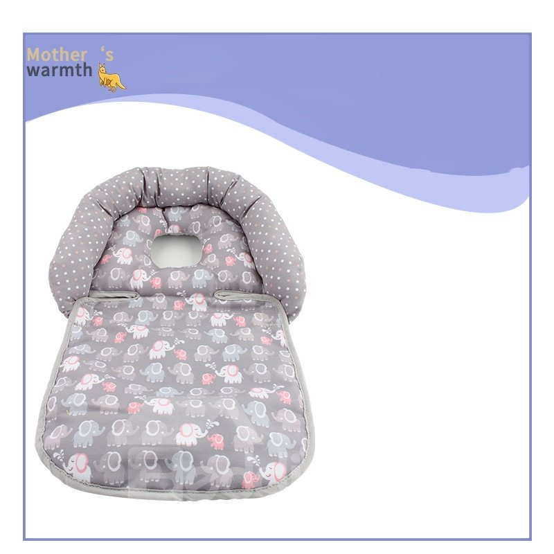 Portable Cellucotton Elephant Printed Pushcart Safety Chair Styling Pillow