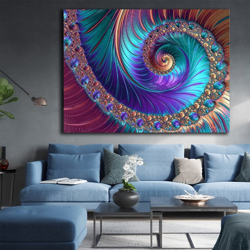 Colorful Painting Wall Art World Home Decor