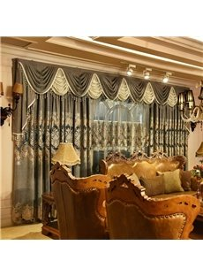Blackout Classical Luxury Grommet Top Living Room and Bedroom Curtain