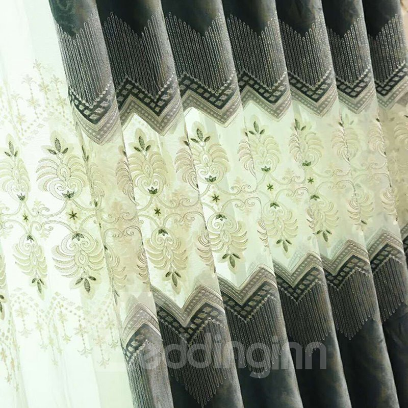 Classical Luxury Blackout Grommet Top Living Room and Bedroom Curtain