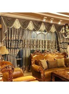 Classical Luxury Grommet Top Living Room and Bedroom Sheer Curtain