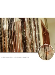 Silver Wire Tassel String Sheer Curtain Porch Decorative Room Divider