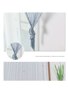 2*2M Multicolor Beaded Tassel String Sheer Curtain
