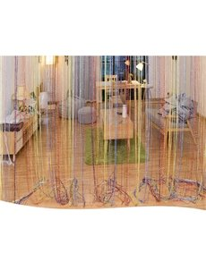 Colored Silver Wire Tassel Bedding Room and Porch Decorative String Sheer Curtain