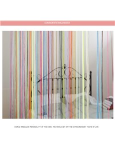 3*3M Colored Tassel Bedding Room and Porch Decorative String Sheer Curtain