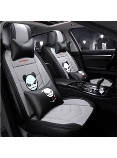 Creative Style Cartoon Linen Universal Car Seat Cover