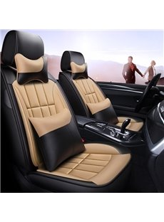 Modern Style Color Block Leather Universal Car Seat Cover