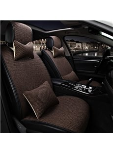 Simple Style Plain Pattern Linen Universal Car Seat Cover