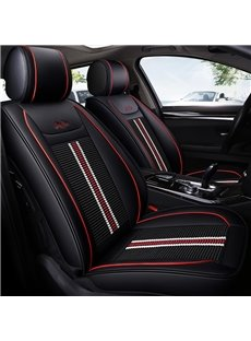 Modern Style Stripe Pattern PU Leather Universal Car Seat Cover