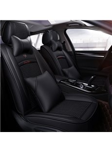 Luxury Modern Style Color Block PU Leather Universal Car Seat Cover