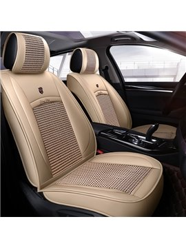 Modern Style Color Block PU Universal Car Seat Cover