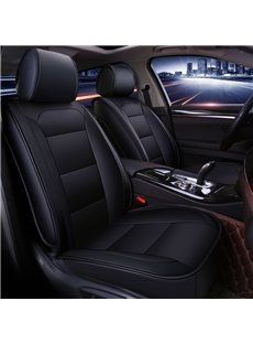 Sport Style Color Block PU Leather Universal Car Seat Cover