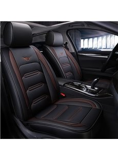 Business Style Color Block PU Universal Car Seat Cover