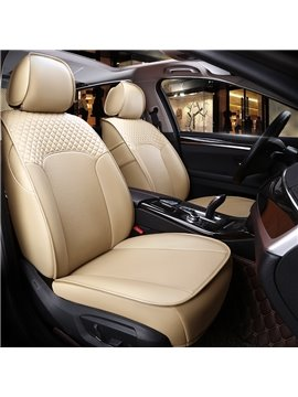 Plain Pattern Simple Style Real Cow Leather Custom Car Seat Cover
