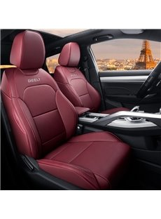 Color Block Modern Style PU Leather Custom Car Seat Cover