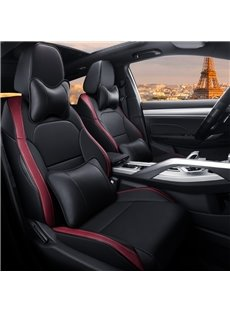 Luxury Color Block Modern Style PU Leather Custom Car Seat Cover