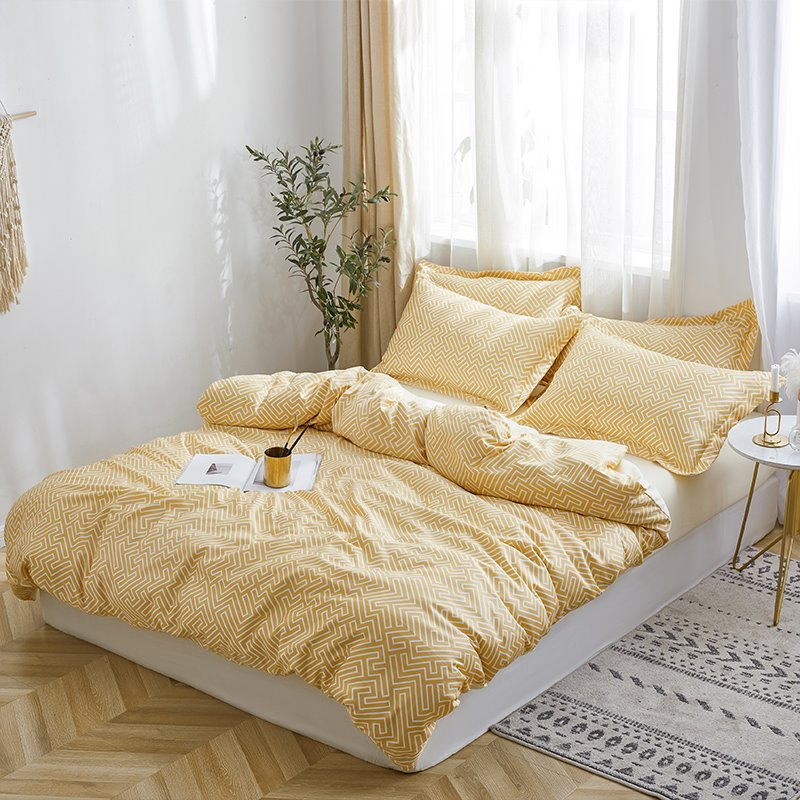 Simple And Elegant Style Snug Silky 4-Piece Bedding Sets