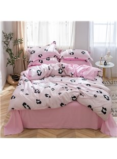 Skin-friendly Reactive Leopard Printed 4-Piece Bedding Sets