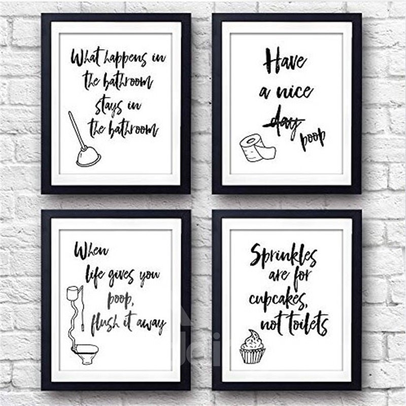 Best Modern Toilet Decor Words & Letters Art Prints