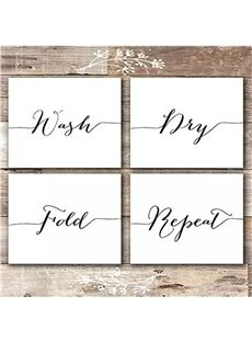 Set of 4 Funny Bathroom Quotes & Rules (UNFRAMED) Best Modern Toilet Decor Photos