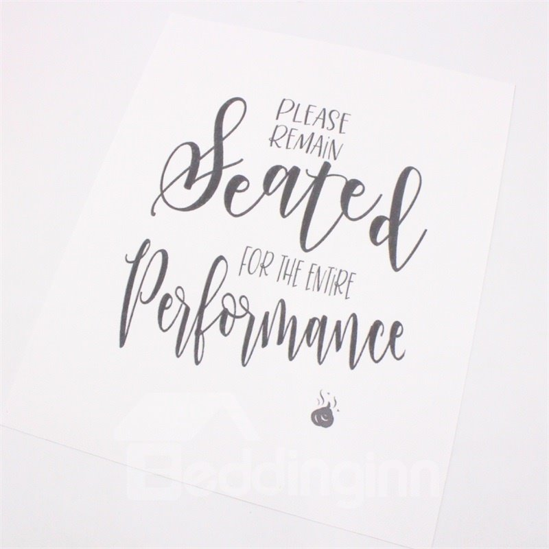 Unframed Bathroom Quotes and Sayings Art Prints Set of Four