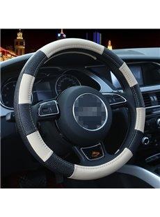 Sport Style Zebra Stripe Leather Steering Wheel Cover