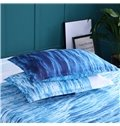 Unfaded and Double Blue Ocean Printed 3-Piece 3D Bedding Sets/Duvet Covers