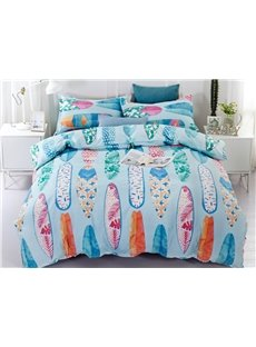 Plain Weave Fabric Reactive Surfboard Printed 3-Piece 3D Bedding Sets/Duvet Covers