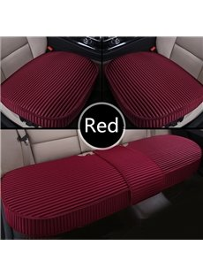 Simple Style Plain Pattern Linen 3-pieces Car Seat Mat