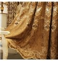 Embroidery Window Blackout Noise-Free Grommet Top Curtains for Living Room