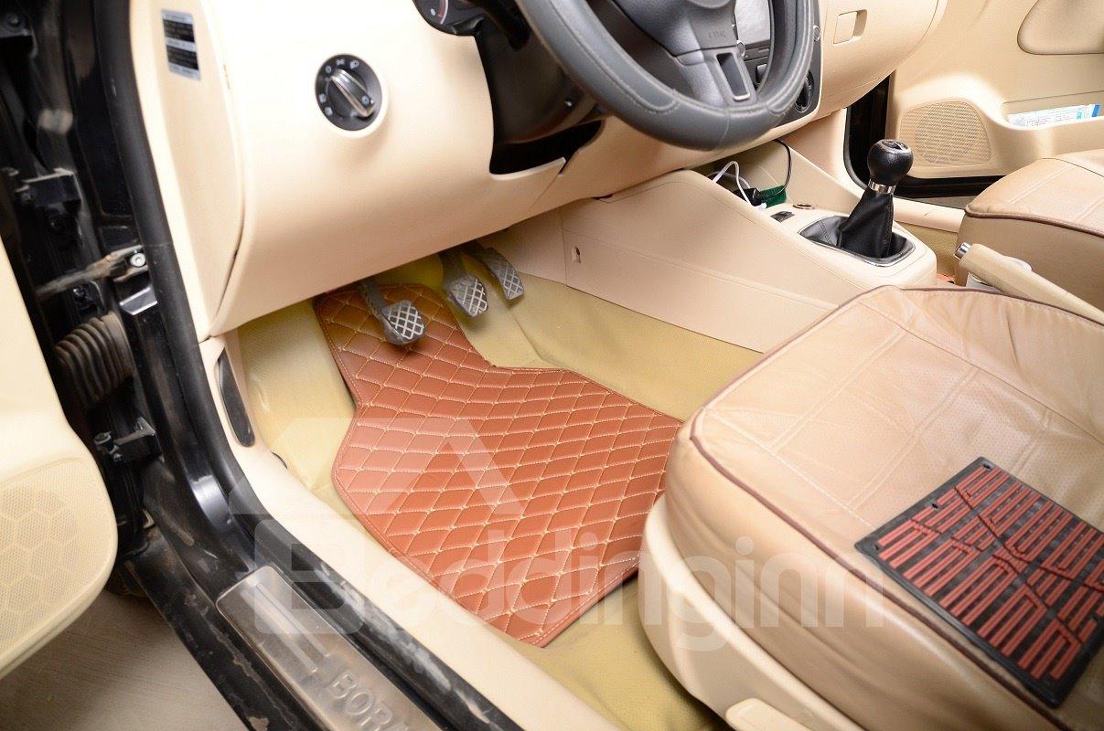 Plain Pattern PVC Material Waterproof Custom Fit Car Floor Mat