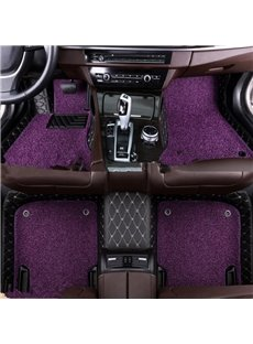 Color Block PVC Leather Material Waterproof Custom Fit Car Floor Mat