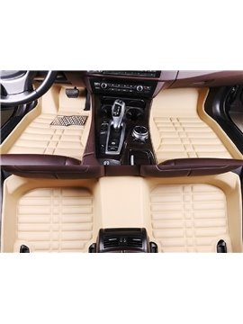 Plain Pattern PVC Leather Material Waterproof Custom Fit Car Floor Mat