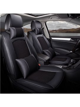 Luxury Business Style Plain Pattern Ice Silk Universal Car Seat Cover