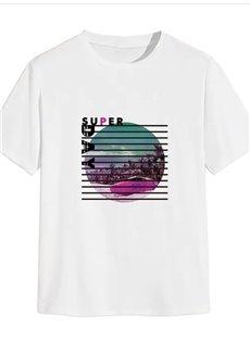 Beddinginn Print Casual Scenery Short Sleeve Men's T-shirt