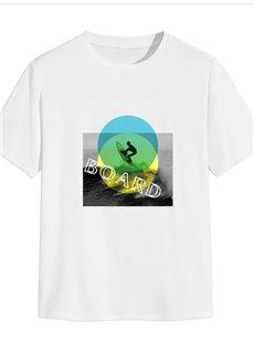 Beddinginn Casual Letter Print Short Sleeve Men's T-shirt