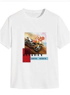 Beddinginn Casual Print Letter Short Sleeve Men's T-shirt
