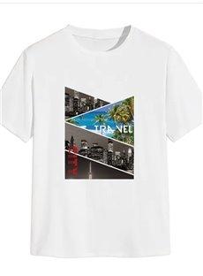Beddinginn Architecture Print Casual Straight Men's T-shirt