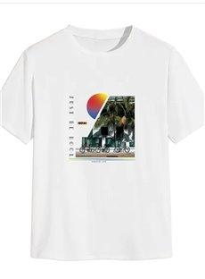 Beddinginn Scenery Straight Casual Print Men's T-shirt