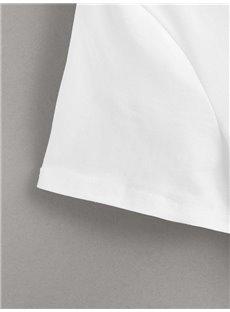 Beddinginn Geometric Short Sleeve Standard Round Neck Spring Women's T-Shirt