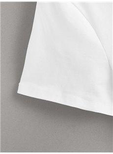 Beddinginn Round Neck Standard Short Sleeve Letter Simple Women's T-Shirt