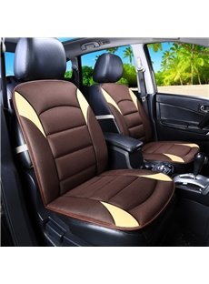 Creative Style Color Block PU Leather Universal Single Car Seat Cover