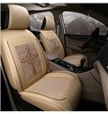 Pastoral Style Color Block Ice Silk Universal Single Car Seat Cover
