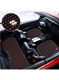 Simple Plain Pattern Wooden Bead Car Seat Mat