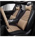 Business Style Color Block PVC Leather Universal Car Seat Cover