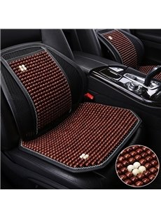 Simple Style Plain Pattern Wooden Bead Car Seat Mat