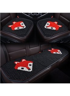 Creative Style Cartoon Pattern Wooden Bead Car Seat Mat
